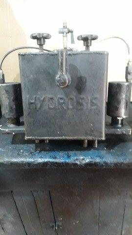 Caixa hidráulico  pneumática  dulpo efeito   e sistema manal tanbem - Foto 4