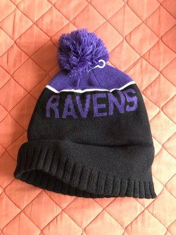 Vendo touca gorro lã Ravens NFL oficial nova - Foto 3