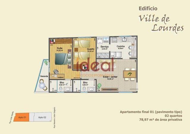 Apartamento à venda, 2 quartos, 1 suíte, 1 vaga, Lourdes - Viçosa/MG - Foto 3