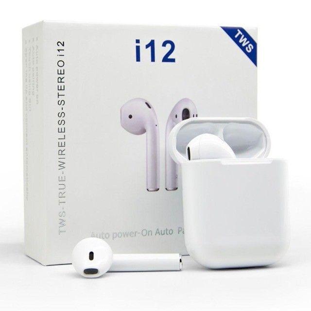 Fone de Ouvido Bluetooth I12 Tws Com Touch - Foto 2