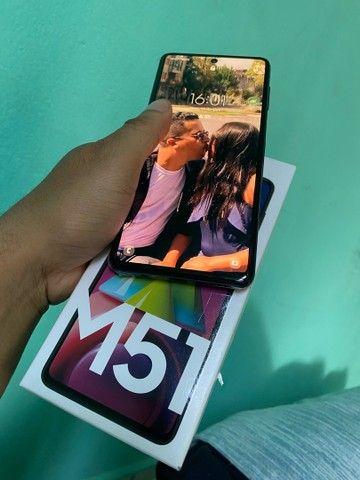 Galaxy M51 com 128gb bateria dura 2 a 3dias tem caixa nota e carregador  - Foto 2