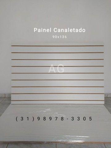 Painel Canaletado 86x136. Painel Canelado + Friso Personalizado Branco. 12x Sem juros - Foto 4