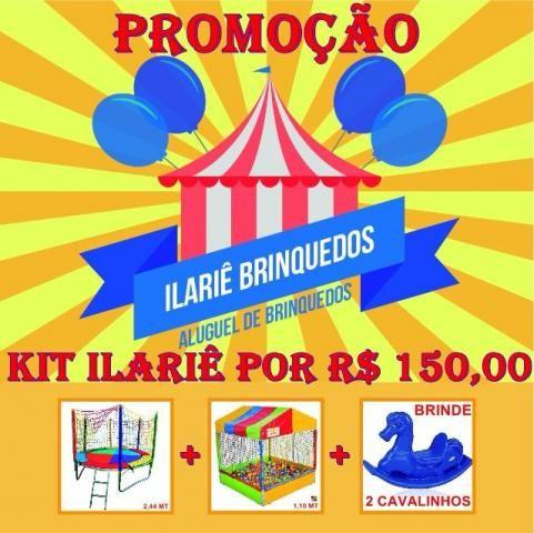Ilariê Brinquedos - cama elástica + piscina de bolinhas