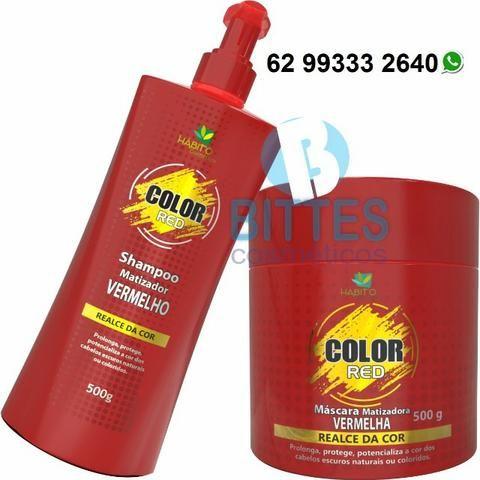 Red Color Matizador Vermelho 500 g o Kit Hábito Cosmeticos