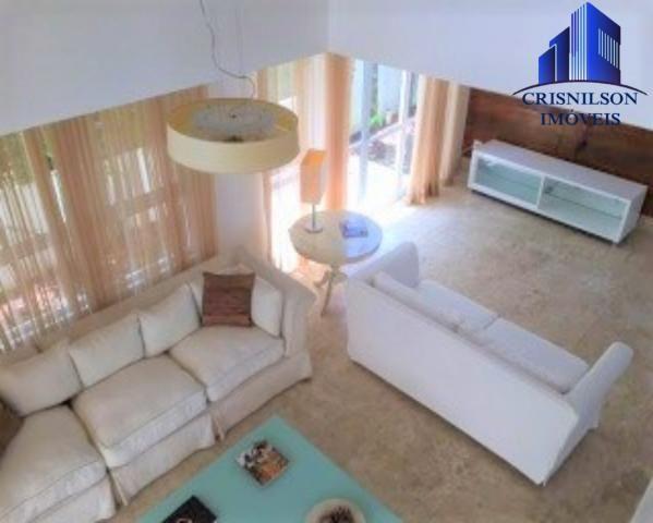 Casa à venda condomínio alphaville i salvador, decorada, 4 suítes, r$ 2.500.000,00, piscin - Foto 7