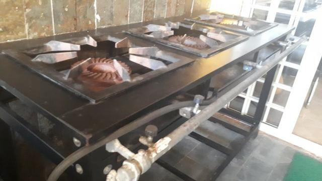 Fogão Industrial de Alta Pressão (3 Bocas) Usado - Foto 4
