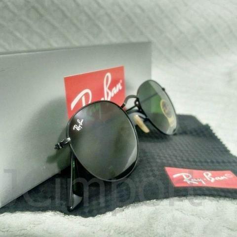 11e0baffb8fd8 Óculos de Sol Ray Ban Round Preto RB3447 Novo Unissex - Bijouterias ...