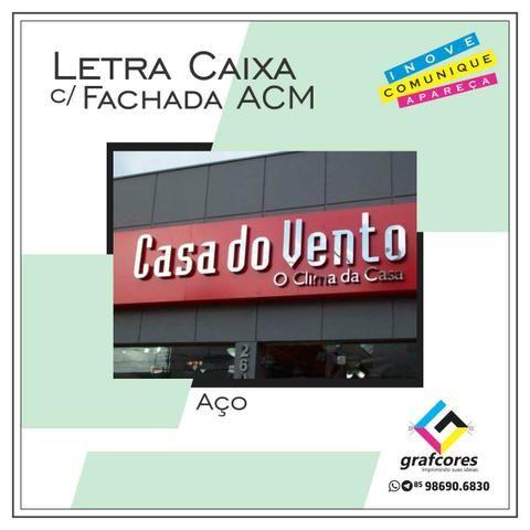 Fachada ACM e Lona / Letra Caixa / Totem / Toldos / Cartão de Visita / Sacola de Papel - Foto 4