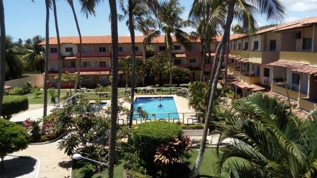 Apartamento Barra de São Miguel, 2 quartos c/ ar condicionado, varanda e piscina - Foto 15