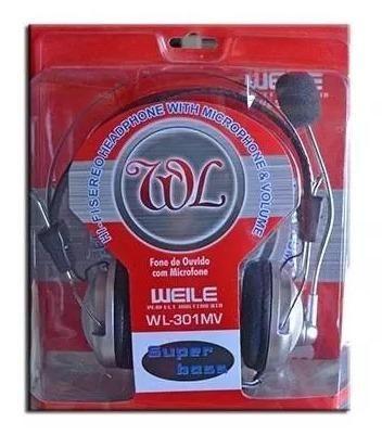 Fone De Ouvido Headset Gamer Com Microfone P/ Ps4 Pc Ps3 Wl - Foto 5