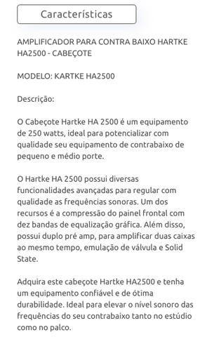 Cabeçote Hartke HA2500 250w - Foto 5