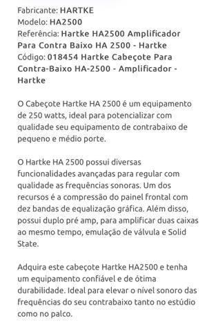 Cabeçote Hartke HA2500 250w - Foto 4