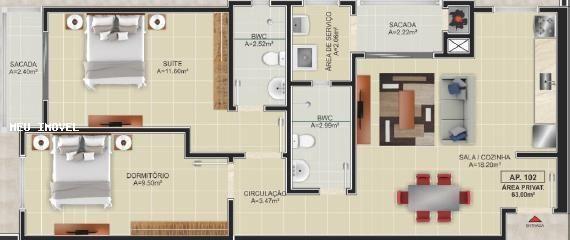 Apartamento para Locação em Florianópolis, Ingleses do Rio Vermelho, 2 dormitórios, 1 suít - Foto 3