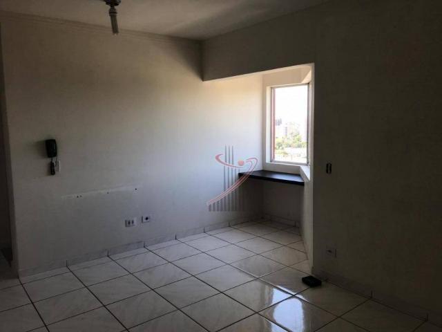 Apartamento com 1 dormitório para alugar, 48 m² por R$ 1.050,00/mês - Centro - Foz do Igua - Foto 4