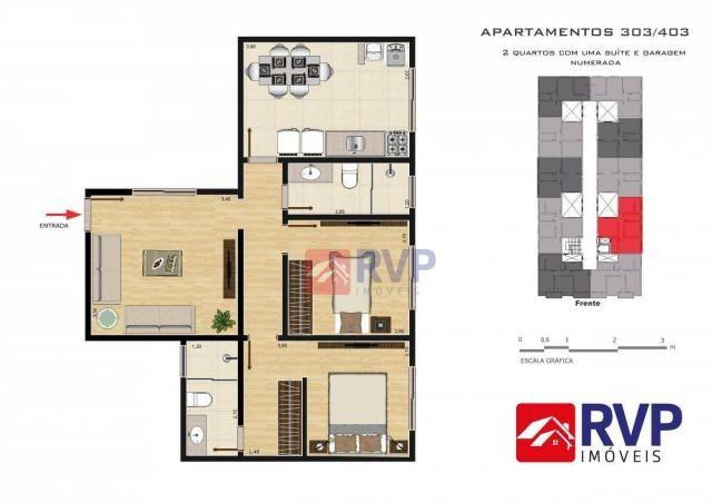 Apartamento com 2 dormitórios à venda por R$ 189.000,00 - Recanto da Mata - Juiz de Fora/M - Foto 14