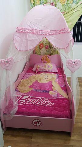 Cama Barbie Star Com Dossel Pura Magia - Rosa - Foto 2