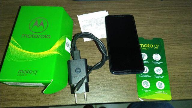 Motorola MotoG7 Power azul Navy - 64 GB e 4 GB Ram - Jataí/GO - Foto 5