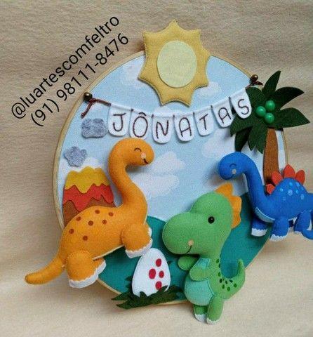 Bastidor decorado Dinossauro  - Foto 2