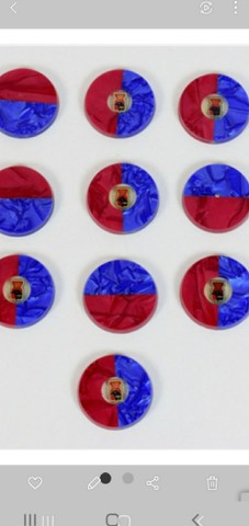 3 Jogos de botão completo e 26 botões diferentes  - Foto 2