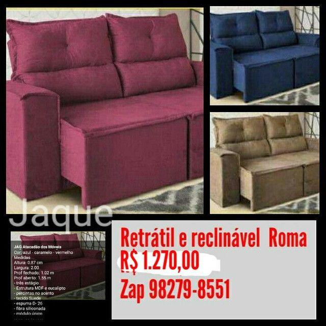 Retrátil e reclinável Roma ou Viena