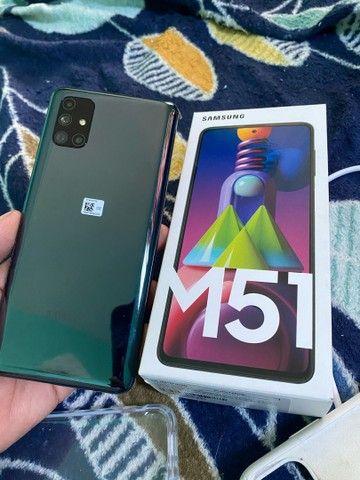 Galaxy M51 com 128gb bateria dura 2 a 3dias tem caixa nota e carregador  - Foto 3