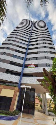 Apartamento com 3 dormitórios para alugar, 113 m² por R$ 1.800,00/mês - Fátima - Fortaleza - Foto 2