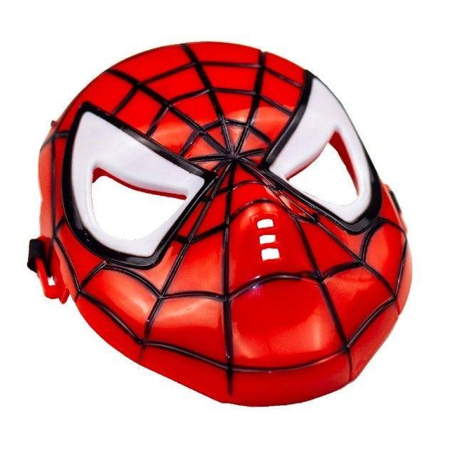 Máscara Do Homem Aranha Spider Infantil Que Brilha No Escuro - Foto 4