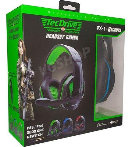 Fone gamer headset gamer fone com microfone para pc xbox e ps4 - Foto 4