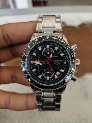 Relógio Lige Multifuncional Prata em Aço