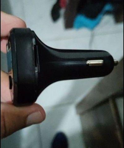 Transmissor bluetooth e carregador veicular. - Foto 2