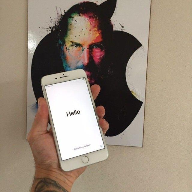 iPhone 7 Plus Silver 256GB Muito Bem Cuidado - Foto 2