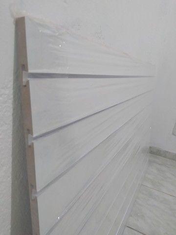 Painel Canaletado 86x136. Painel Canelado + Friso Personalizado Branco. 12x Sem juros - Foto 6