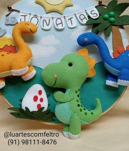 Bastidor decorado Dinossauro  - Foto 4