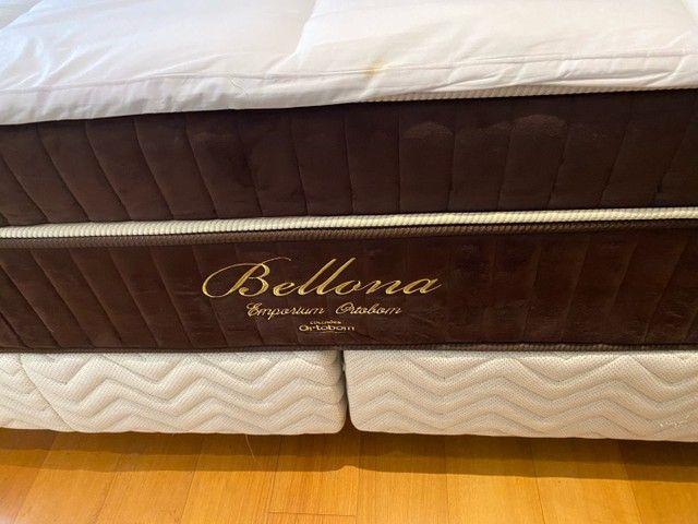 Vendo Cama Box King (base e colchão) - Belladona Ortobom - Foto 2