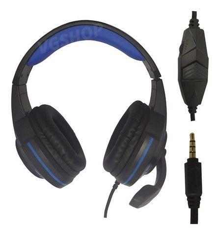 Fone gamer headset gamer fone com microfone para pc xbox e ps4 - Foto 2