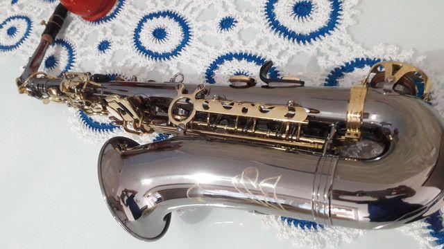 SAX saxofone EAGLE SA 500 onix lindo  - Foto 4