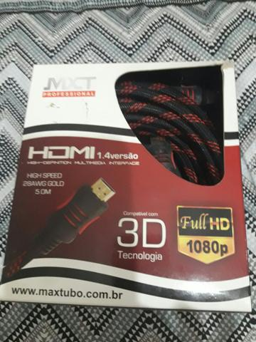 Cabo HDMI novo na caixa!