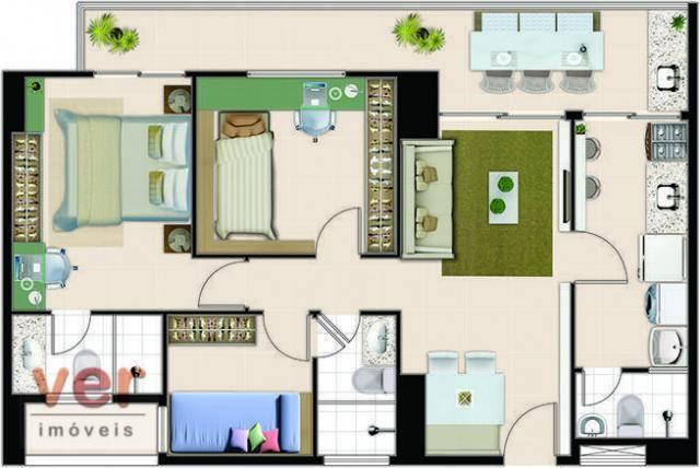 Vendo excelente apartamento no Reservatto Condomínio, com 74,05 m² de área privativa. - Foto 4