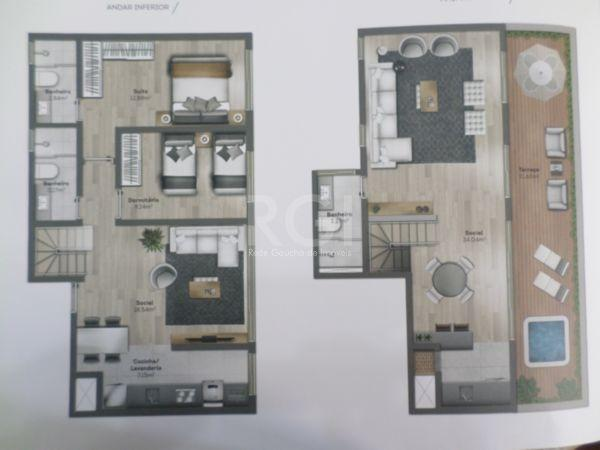 Apartamento à venda com 2 dormitórios em São joão, Porto alegre cod:IK31249