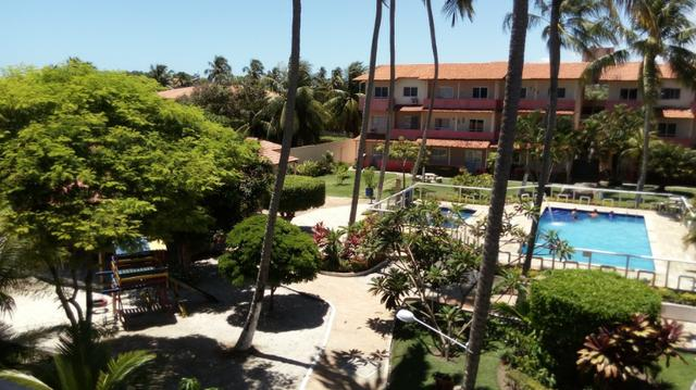 Apartamento Barra de São Miguel, 2 quartos c/ ar condicionado, varanda e piscina - Foto 11