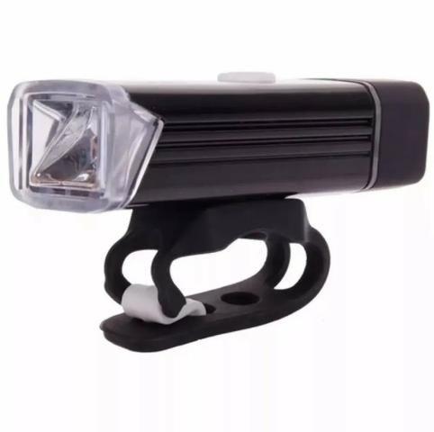 Bike Lanterna Farol Dianteiro Recarregável Usb 180 Lumens Pedal Noturno Bicicleta Forte