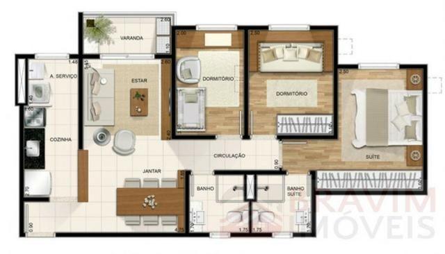 Apartamento com 3 quartos em Morada de Laranjeiras - Foto 19
