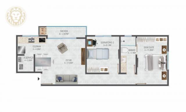 Apartamento com 1 dormitório à venda, 59 m² por R$ 275.000 - Ribeirão da Ilha - Florianópo - Foto 5