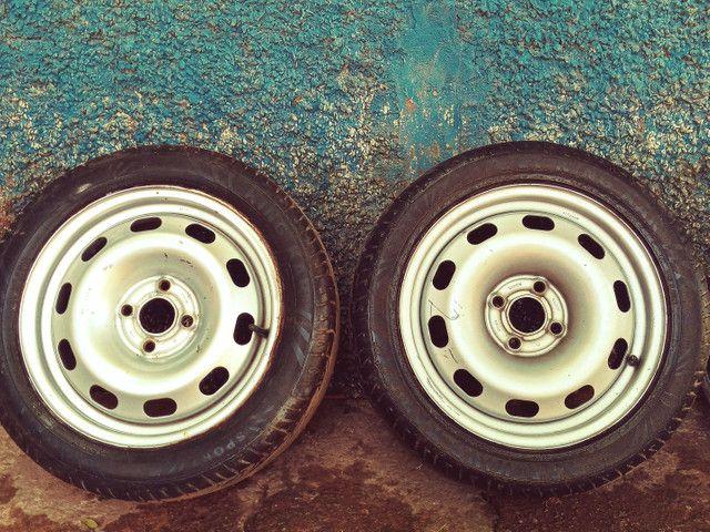 Rodas ferro aro 15 (SÓ VENDA) - Foto 2