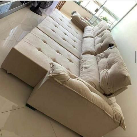 Sofá retrátil e reclinável 3 metros. - Foto 2