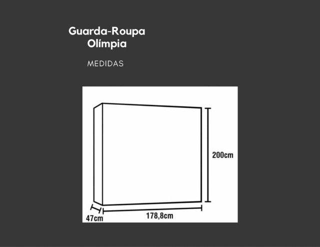 Guarda-Roupa Bartira Olímpia com 6 Portas e 3 Gavetas com possíveis Avarias  - Foto 2