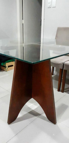 Mesa com tampa de vidro temperada - Foto 3