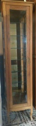 Cristaleira provençal de madeira maciça  - Foto 3
