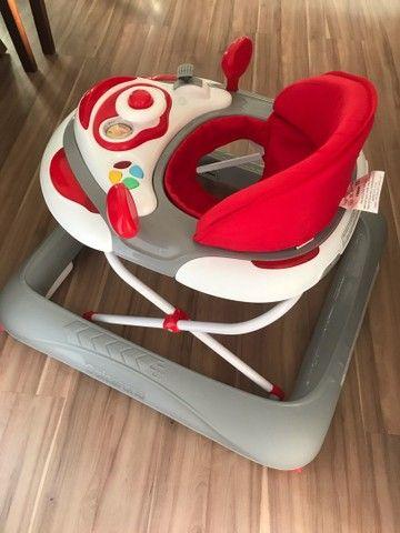 Andador Para Bebê Liam Musical Galzerano Cinza - Foto 3