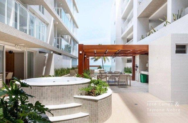 Apartamento térreo com área externa, 71m², projetados e com piscina privativa a beira mar  - Foto 14